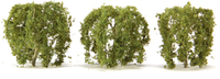 "JTT Scenic Weeping Willow Tree 2"" (3 pk) - H0 Scale"