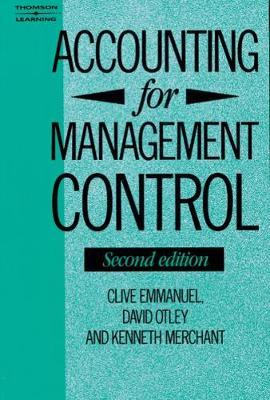 Accounting for Management Control by Clive Emmanuel image