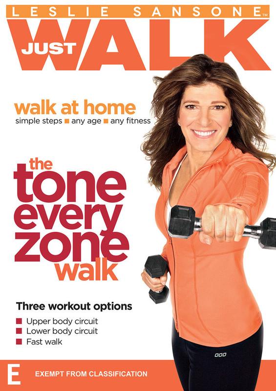 Leslie Sansone The Tone Every Zone Walk on DVD