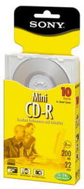 Sony CD-R Mini Recordable Discs 200MB 10 Pack