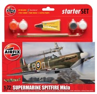 Airfix Supermarine Spitfire Mkla Starter Set 1/72 Model Kit