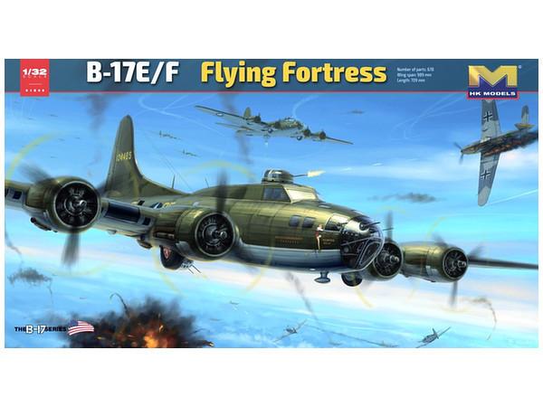 Hong Kong Models: 1/32 B-17E/F Flying Fortress - Model Kit image