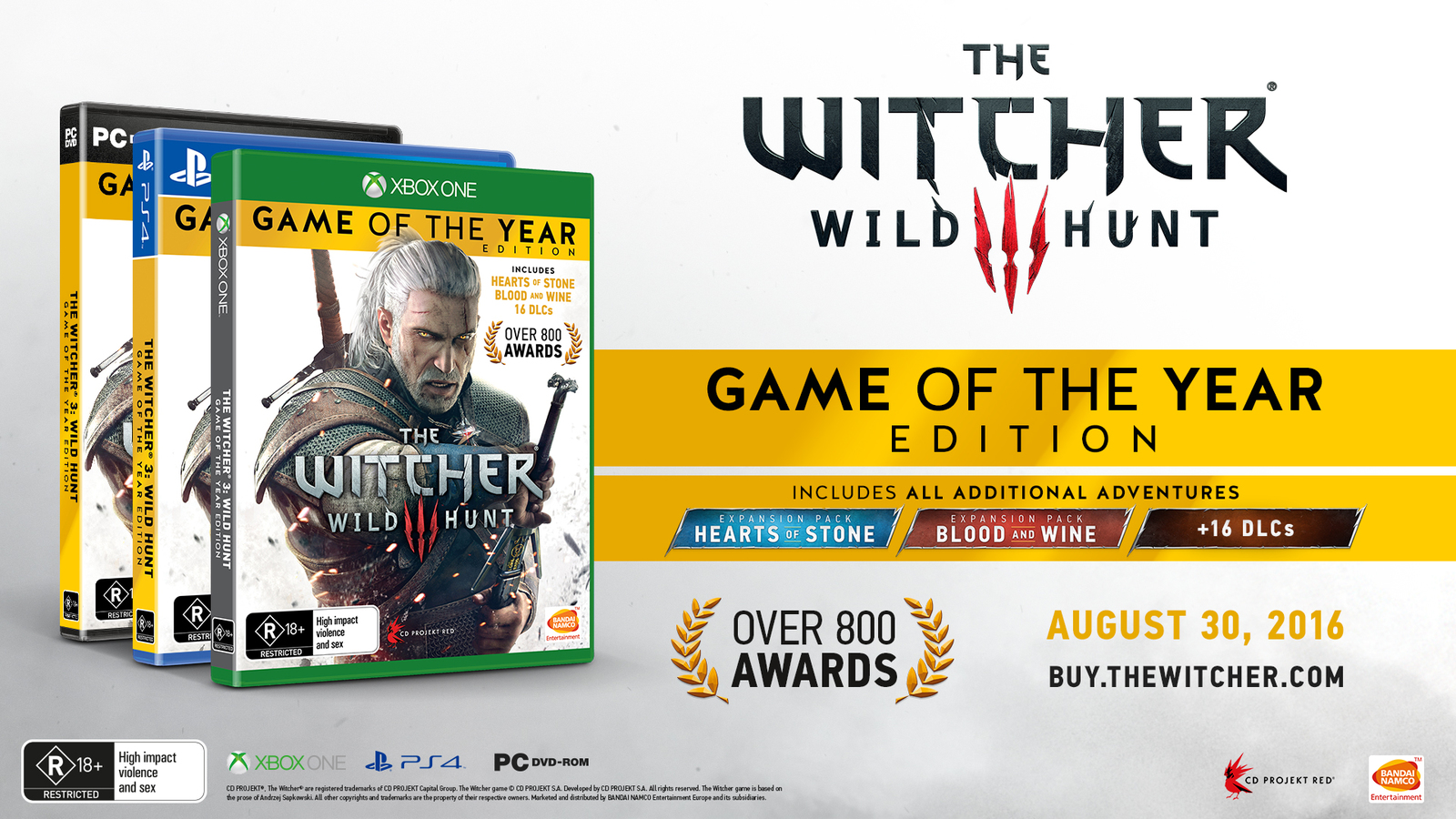 The Witcher 3: Wild Hunt Game of the Year Edition for Xbox One image