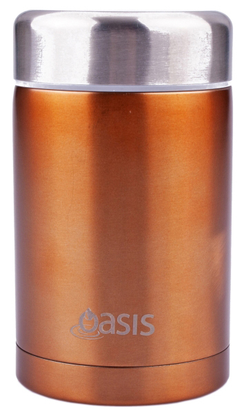 Insulated Stainless Steel Food Flask - 450ml (Copper) image