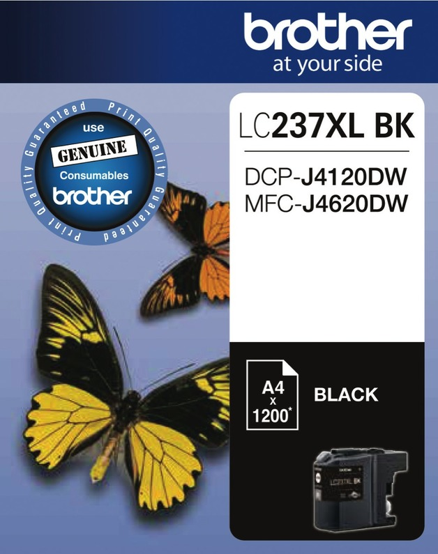 Brother LC-237XLBK High Yield Ink Cartridge (Black)