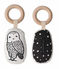 Wee Gallery: Organic Cotton Rattle - Owl image
