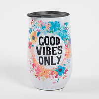Natural Life: Wine Tumbler - Good Vibes