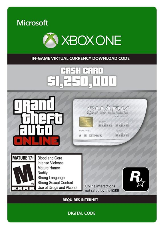 Grand Theft Auto V: Great White Shark Cash Card for Xbox One (Digital Code) for Xbox One