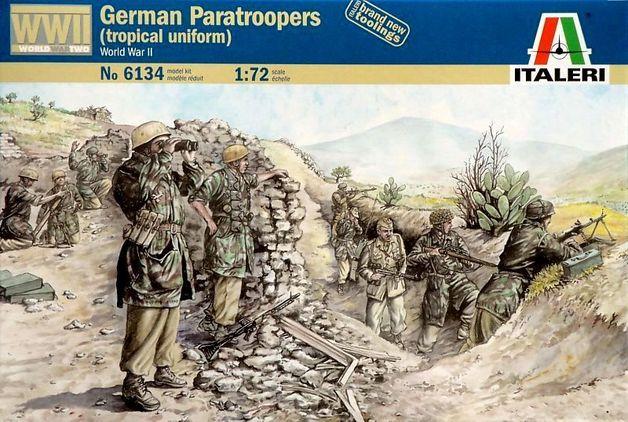 Italeri German Paratroopers Tropical (WWII) 1:72 Model Kit