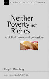 Neither Poverty Nor Riches by Craig L. Blomberg image