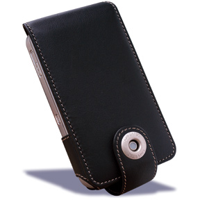 Palm Covertec Leather Case for LifeDrive Mobile Manager - Black image
