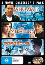 Who Am I? / Medallion / Gorgeous - 3 Movie Collector's Pack (3 Disc Set) on DVD