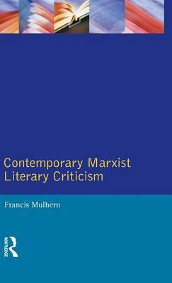 Contemporary Marxist Literary Criticism by Francis Mulhern image