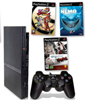 PlayStation 2 Console + SingStar Rocks!, Viewtiful Joe 2 & Finding Nemo for PlayStation 2