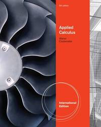 Applied Calculus, International Edition by Stefan Waner image