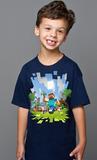 Minecraft Adventure Youth T-Shirt (Navy, XL)