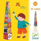 Djeco - 10 Funny Stacking Blocks