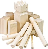 Traditional Wooden Kubb in Crate Game