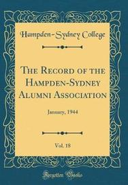The Record of the Hampden-Sydney Alumni Association, Vol. 18 by Hampden-Sydney College image