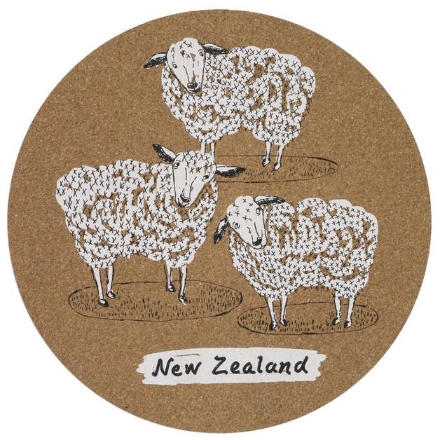 Funky Sheep Cork Placemats (Set/4)