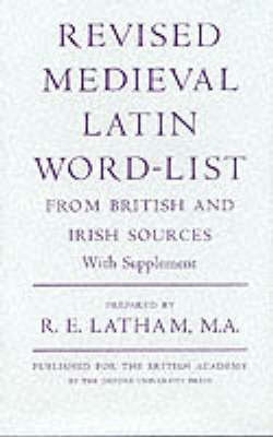 Revised Medieval Latin Word List: From British and Irish Sources image