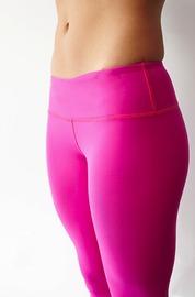 Fuschia Womens Crop Pants - Pink Logo (XS)