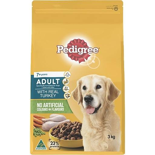 Pedigree Adult 7+ Years With Real Turkey (3kg)
