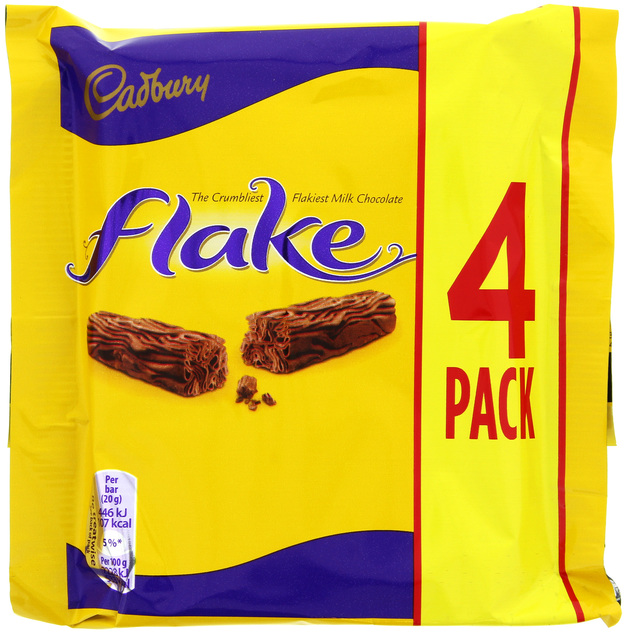 Cadbury Flake Chocolate Bar 4pk