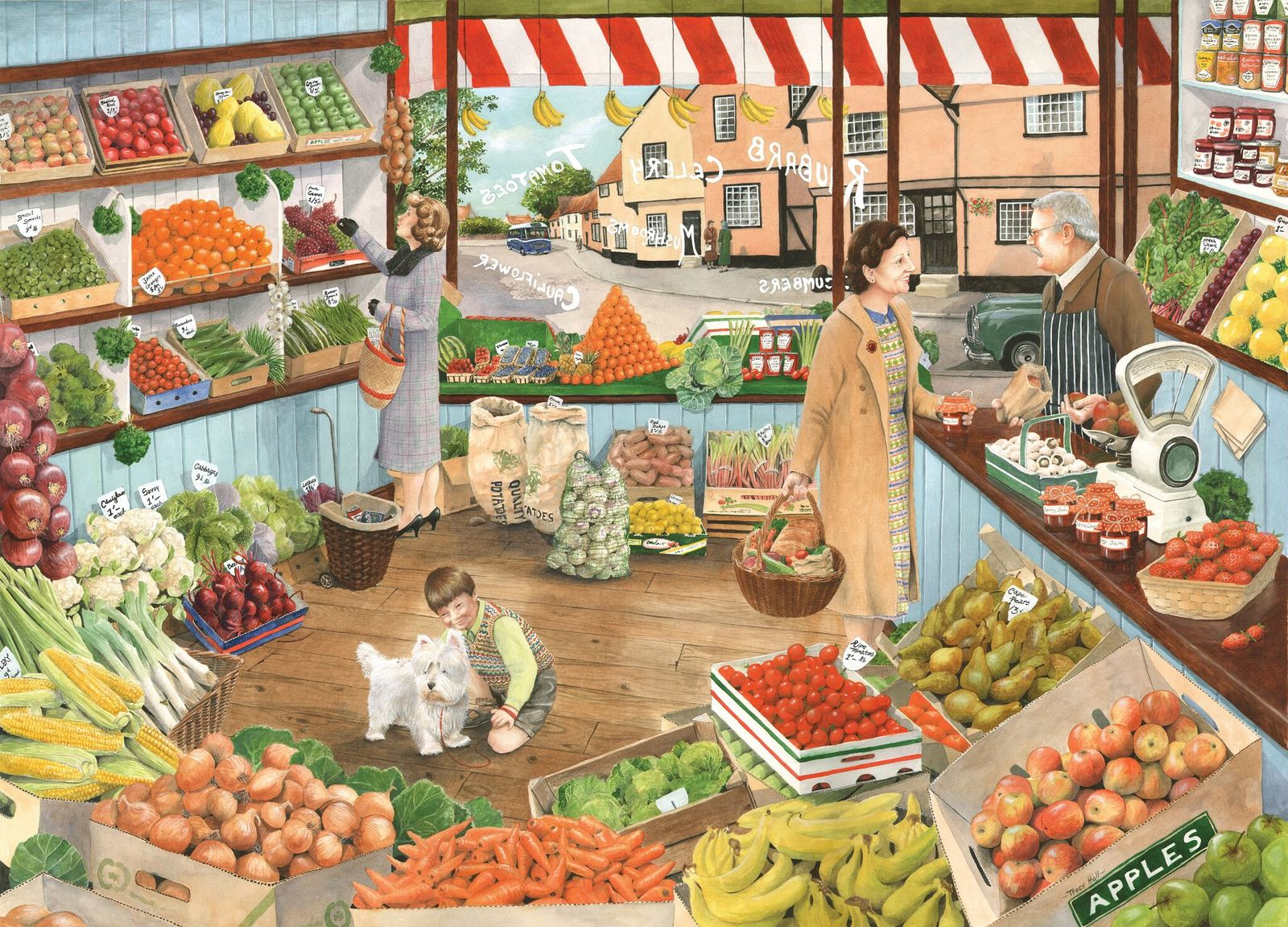 Holdson: 1000 Piece Puzzle Times Past 2 The Green Grocer image