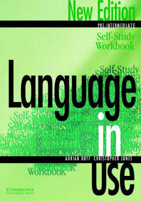 Language in Use Pre-Intermediate Self-study Workbook by Adrian Doff image