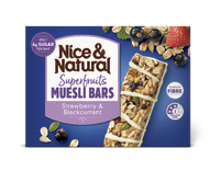 Nice & Natural: Superfruits Muesli Bar - Strawberry & Blackcurrant (180g)