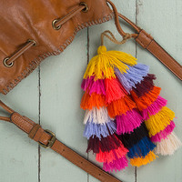Natural Life: Tassel Tie On - Multi Stacked