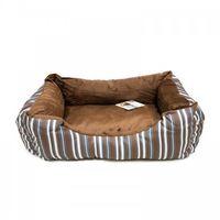 Pawise: Dog Bed Cuddler - Brown Strip