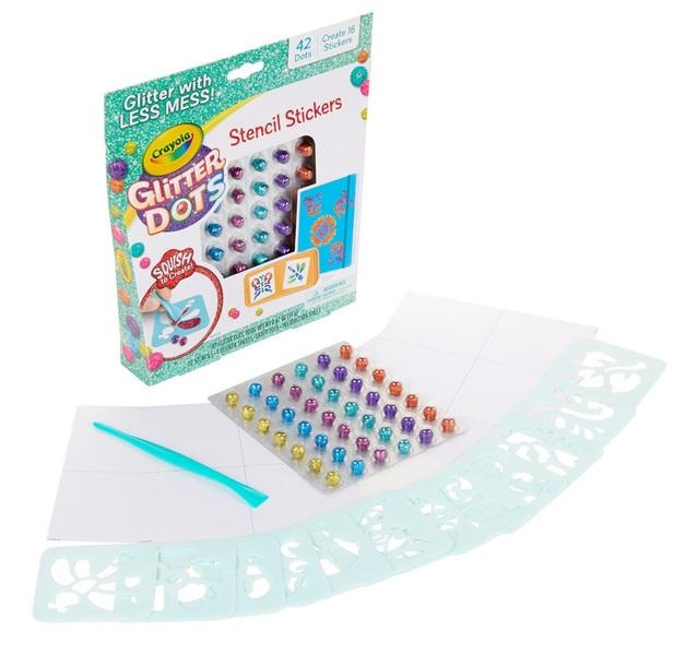 Crayola: Glitter Dots - Stencil Stickers Craft Kit