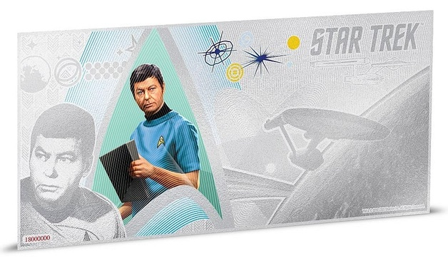NZ Mint: Star Trek - Silver Coin Note - Dr. McCoy 2018 (5g Silver)