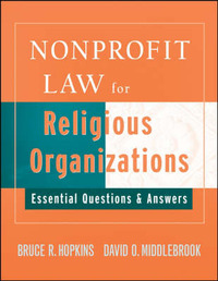 Nonprofit Law for Religious Organizations by Bruce R Hopkins