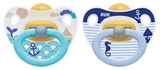 NUK: Classic Happy Kids Latex Soothers - 0-6 Months (2 Pack) - Blue