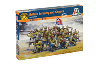 Italeri 1/72 British Inf & Sepoys - Scale Model Kit image