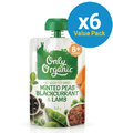 Only Organic: Stage 3 Peas Blackcurrant & Lamb (6 x 120g)