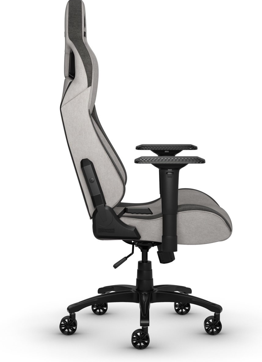Corsair T3 RUSH Fabric Gaming Chair - Grey & Charcoal for  image