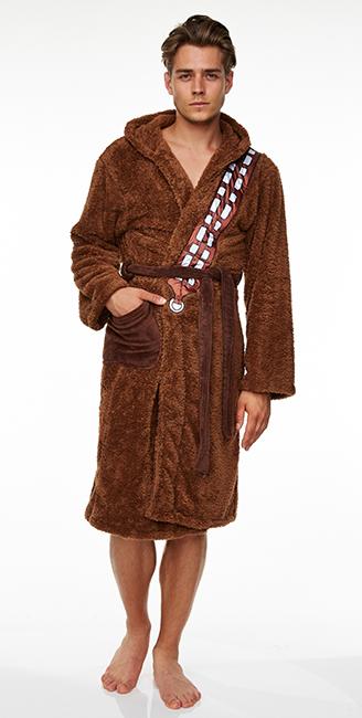 Star Wars Chewbacca Fleece Hooded Bath Robe image ... 0298ea80d