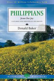 Philippians by Donald Baker