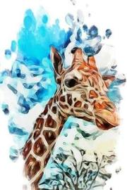 Notebook - Giraffe Abstract Painting by Happy Vibes Journal Co image