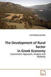 The Development of Rural Sector in Greek Economy by ELEFTHERIOS GIOVANIS