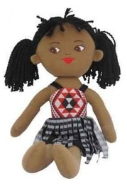NZ Gift: Soft Doll Maori Girl - 40cm