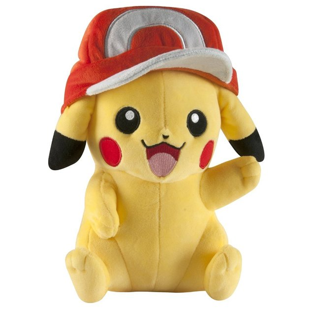 Pokemon: Pikachu with Ash's Hat Plush (26cm)