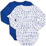 Bonds Long Sleeve Bodysuit 2 Pack - Mountain Days (0-3 Months)