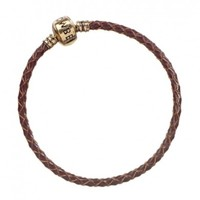 Fantastic Beats: Brown Leather Charm Bracelet 17cm