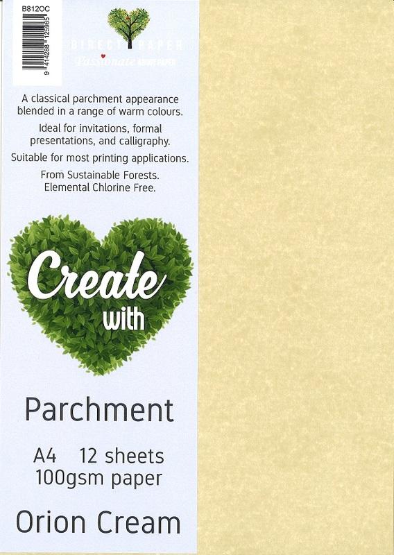Parchment Paper A4 100gsm - Orion Cream (12 Pack)