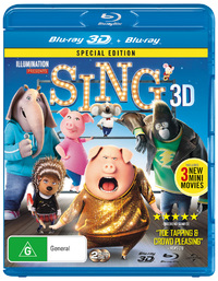 Sing on Blu-ray, 3D Blu-ray